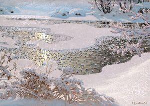 Фьюэстад Гюстав Иней на замерзшем озере