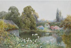 Стэннард Тереза Лилии возле озера