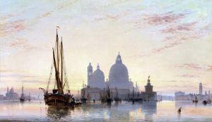 Романтизм Венецианская ведута с видом церкви Санта-Мария-делла-Салюте