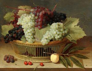 Соро Исаак Натюрморт с виноградом в корзине