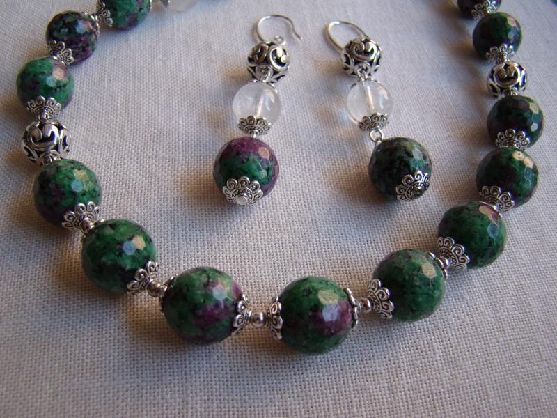 Гармония Зеленый Натуральный камень цоизит Агапова Юлия - фото 2