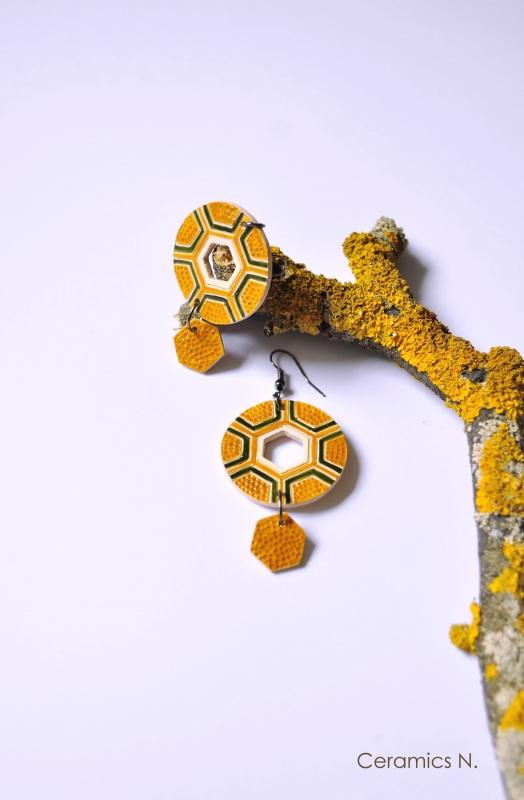 Механическое солнце Желтый керамика, металл Амброзяк Надежда - фото 1