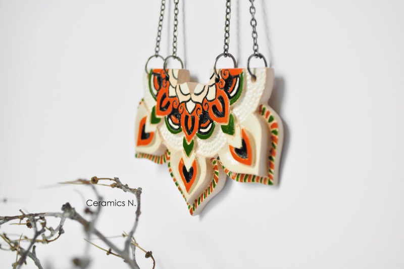 Мавка Оранжевый керамика, металл Амброзяк Надежда - фото 4