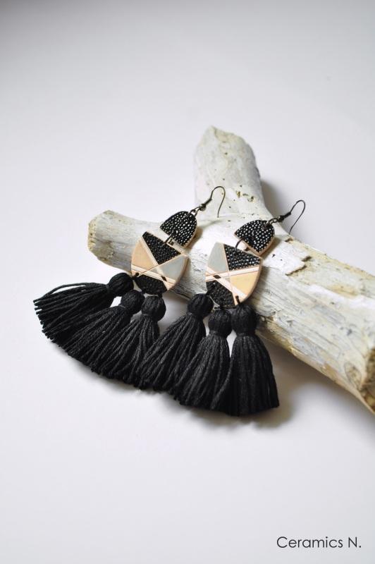 Монохромные Черный керамика, металл, нитки Амброзяк Надежда - фото 2