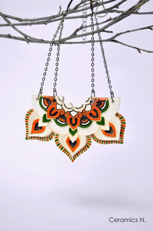 Мавка Оранжевый керамика, металл Амброзяк Надежда - фото 1