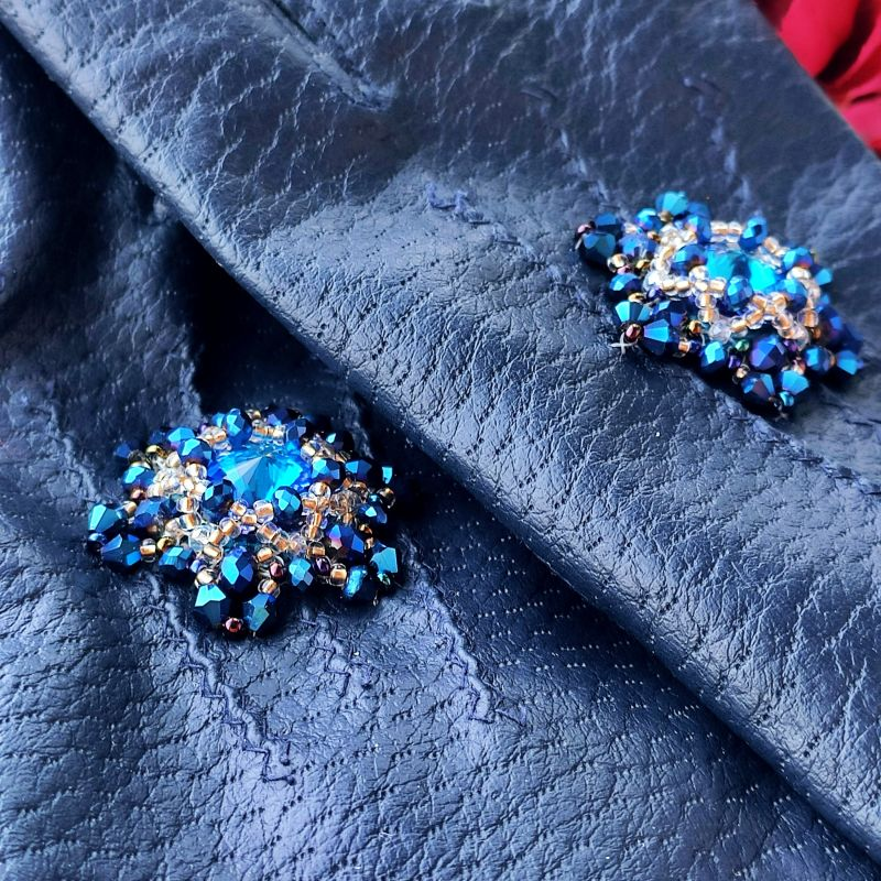 Очень красивые перчатки с кристаллами Сваровски  Екошкіра, кристали Сваров Бартенева Оксана - фото 1