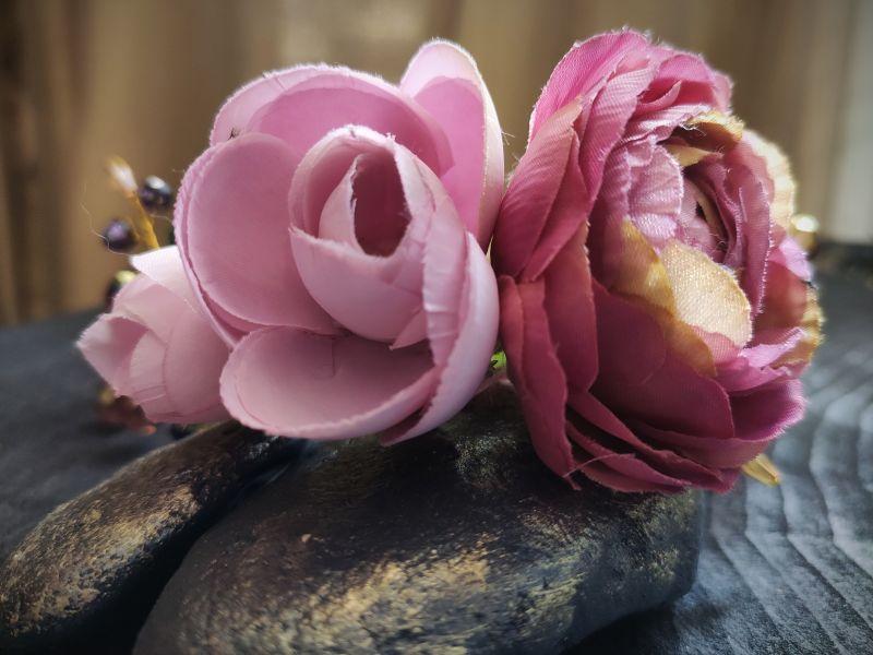 """Ободок для волос """"Цветочный"""" Розовый Металлическая основа, тек Бартенева Оксана - фото 4"""