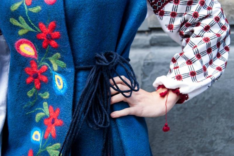 Жилет Цветы Ночи Коричневый шерсть, шелк, вискоза Березовская Оксана - фото 3