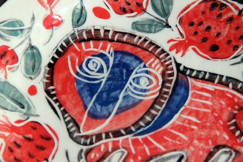 """Тарелка, серия """"Сказочные звери"""". Синий лев.  глина, эмаль Мастерская керамики Сергея Горбаня - фото 2"""