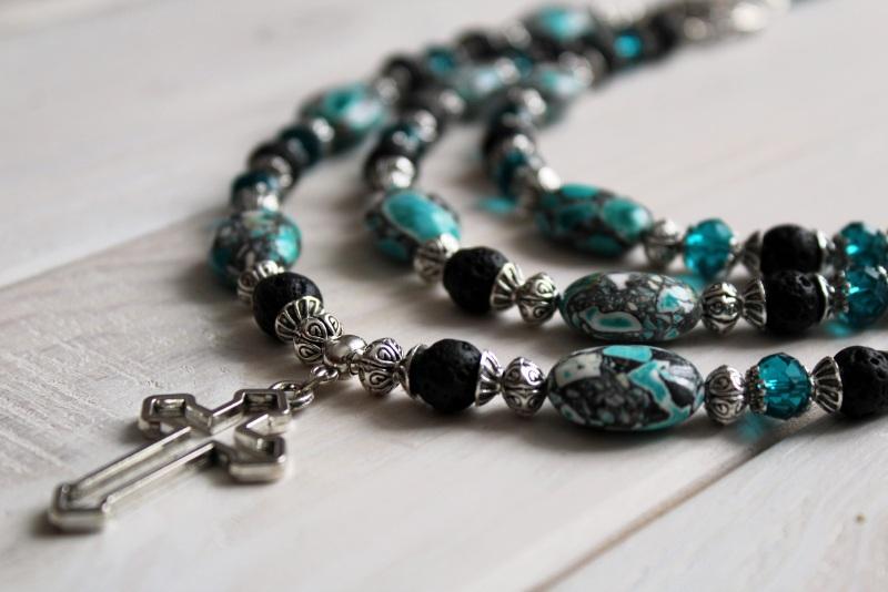 Ожерелье мечты Разноцветный лава, кристаллы, прессова Бжезинская Ирина - фото 2