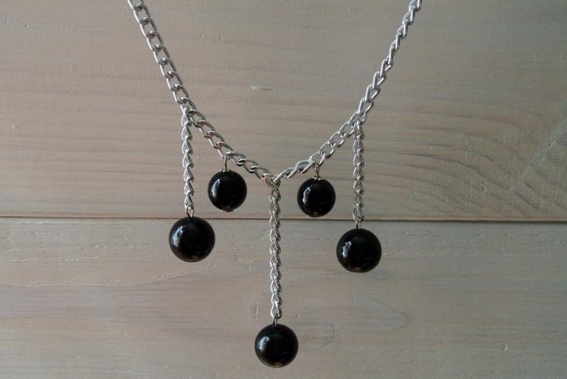 Ожерелье Кульминация  агат прессованный диаметр Бжезинская Ирина - фото 1