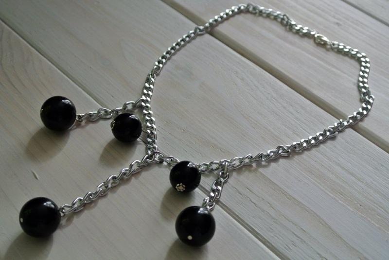 Ожерелье Кульминация  агат прессованный диаметр Бжезинская Ирина - фото 3