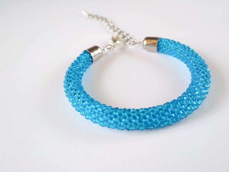 Светло-голубой, прозрачный Голубой Чешский бисер, джинсовая Блоцкая Елена - фото 1