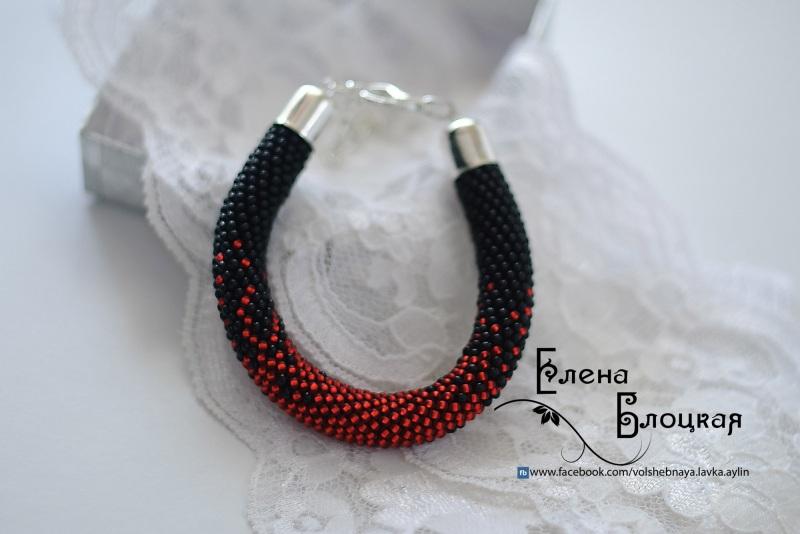 Чорна кров Чорний Чешський бісер, бавовняна Блоцька Олена - фото 1