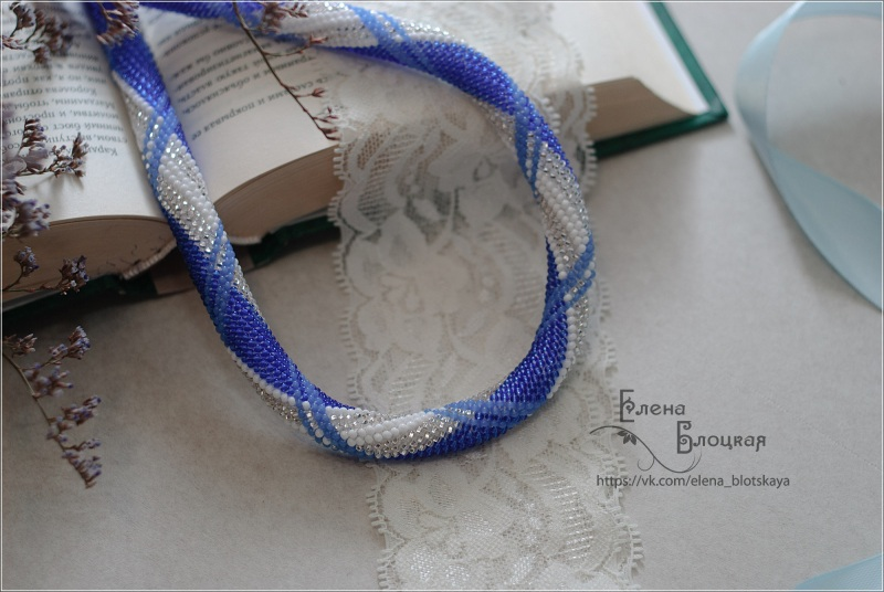 Джинс Синій Чешський бісер, бавовняна Блоцька Олена - фото 3