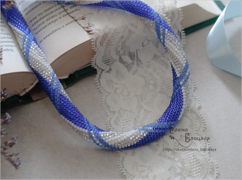 Джинс Синій Чешський бісер, бавовняна Блоцька Олена - фото 2