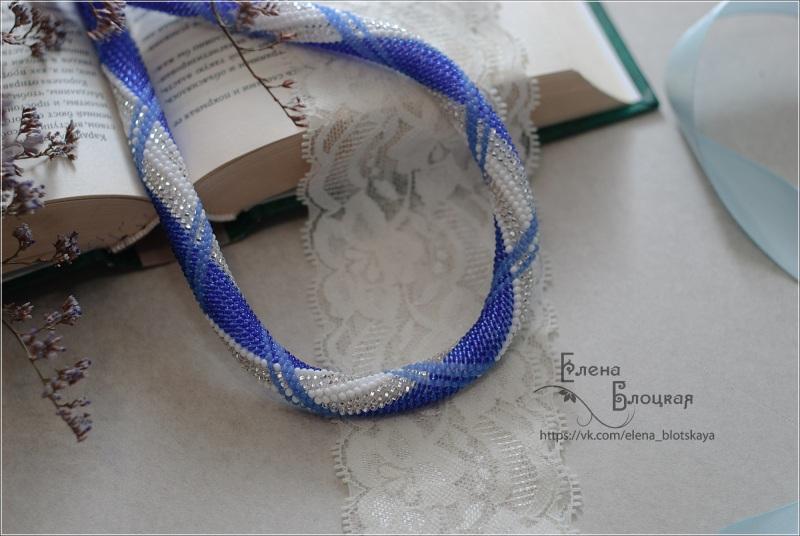 Джинс Синій Чешський бісер, бавовняна Блоцька Олена - фото 1