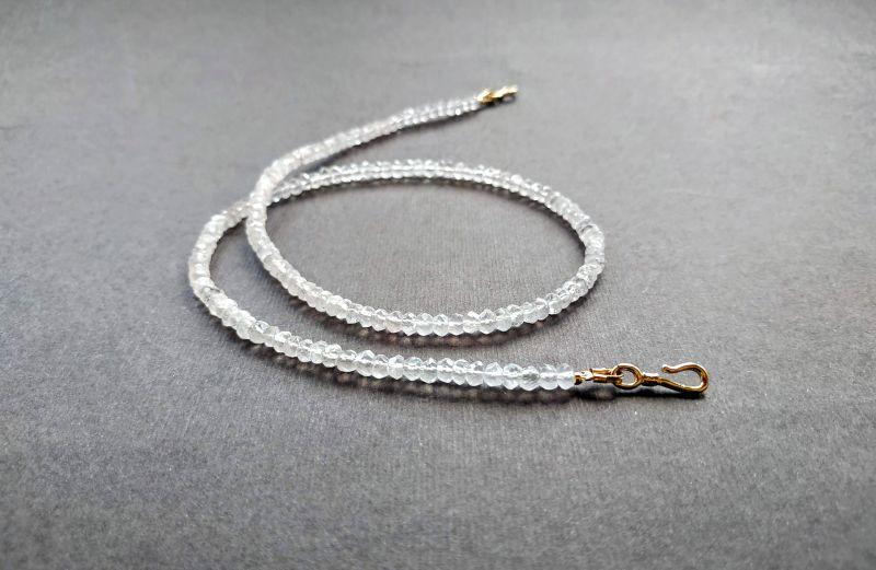 Ожерелье из коллекции «Line of love» Арт. E4121963LL Белый Розовый кварц (ювелирный) Богомолова Светлана - фото 7
