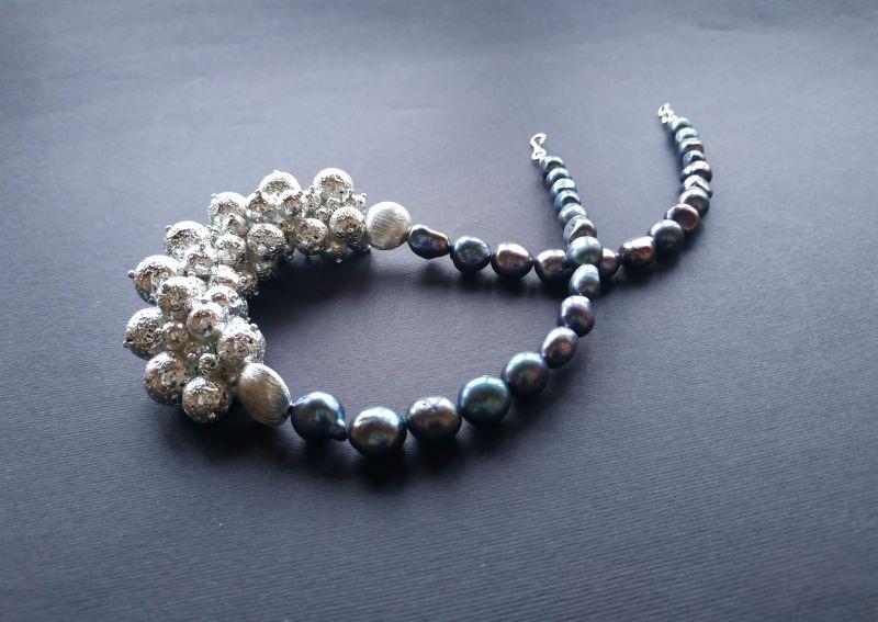 Ожерелье из коллекции «Star sea» Арт. N7388SS Синий Жемчуг пресноводный (серо Богомолова Светлана - фото 7