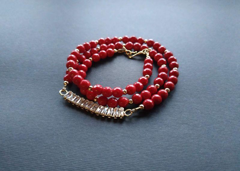 Браслет из коллекции «Red thread» Арт. B111228RTH Красный Агат, кристаллы Swarovski Богомолова Светлана - фото 3