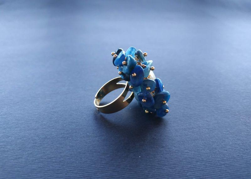 Кольцо из коллекции «Jardins De L`amour» Арт. R14920JDLA Синий Кианит, перламутр, латунь Богомолова Светлана - фото 4