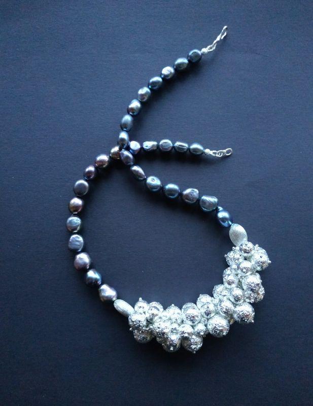 Ожерелье из коллекции «Star sea» Арт. N7388SS Синий Жемчуг пресноводный (серо Богомолова Светлана - фото 1