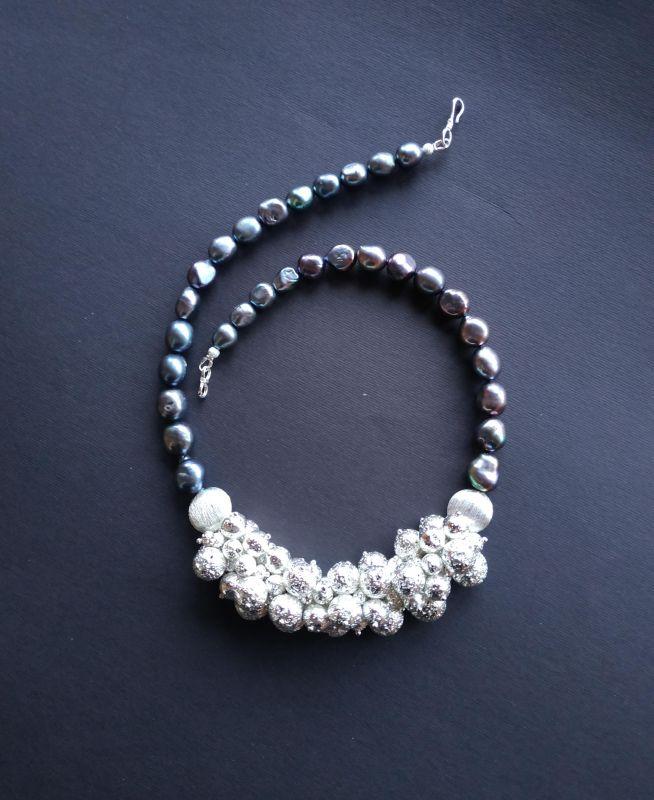 Ожерелье из коллекции «Star sea» Арт. N7388SS Синий Жемчуг пресноводный (серо Богомолова Светлана - фото 4