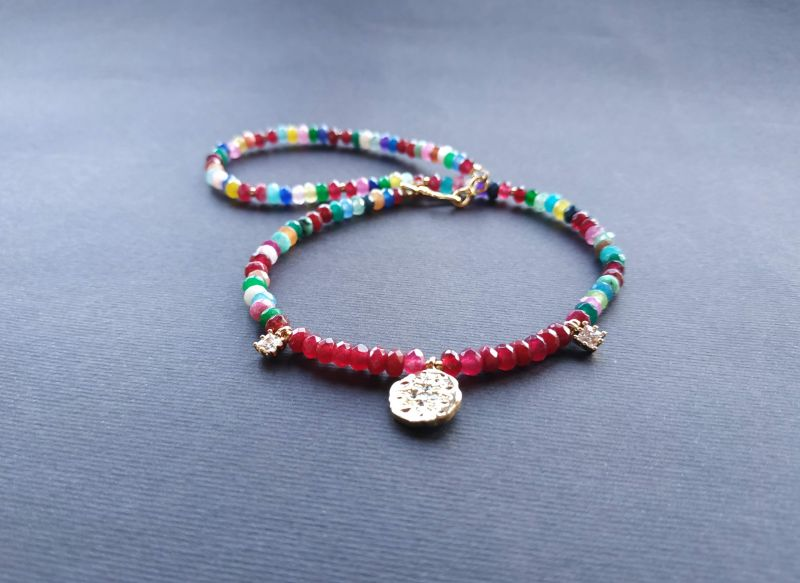 Браслет из коллекции «Roue de la Fortune» Арт. B281788RDLF/red/ Красный Кварц разноцветный, крист Богомолова Светлана - фото 4