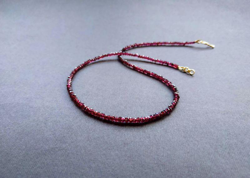 Ожерелье из коллекции «Life line» Арт. N180888LL Гранатовый Гранат (ювелирный), латун Богомолова Светлана - фото 1