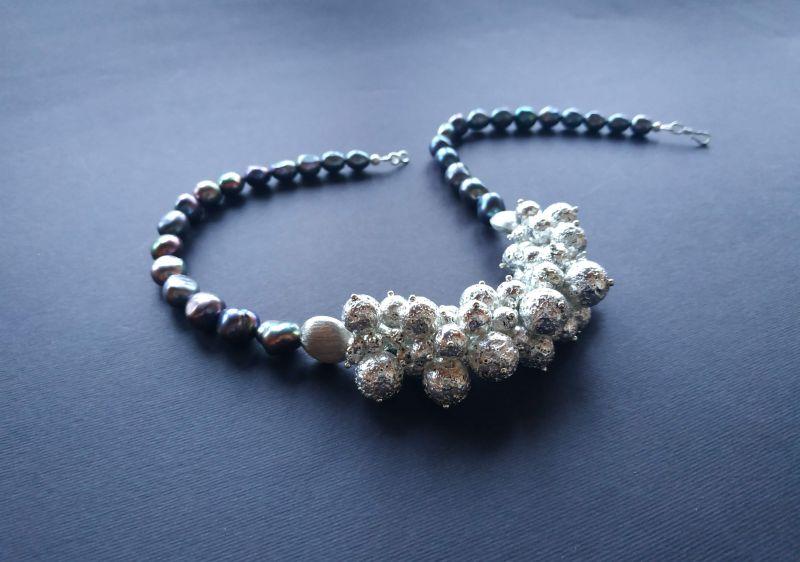 Ожерелье из коллекции «Star sea» Арт. N7388SS Синий Жемчуг пресноводный (серо Богомолова Светлана - фото 6