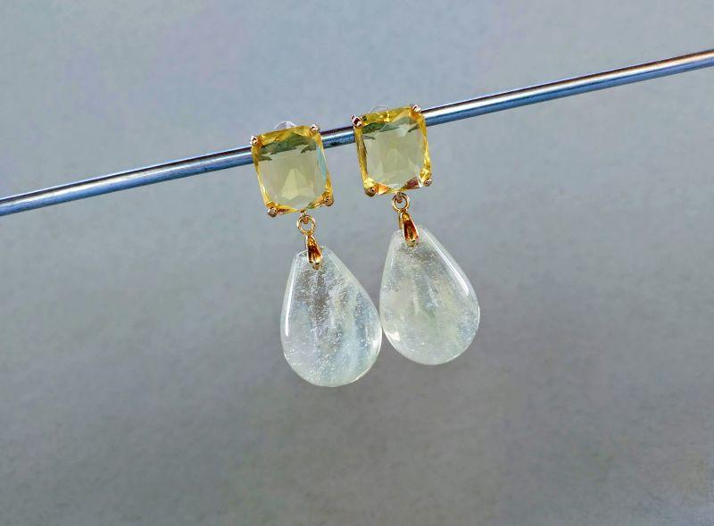 Серьги из коллекции «Soleil dans un verre» Арт. 8788SDUV Белый Лунный камень (санидин), Богомолова Светлана - фото 6