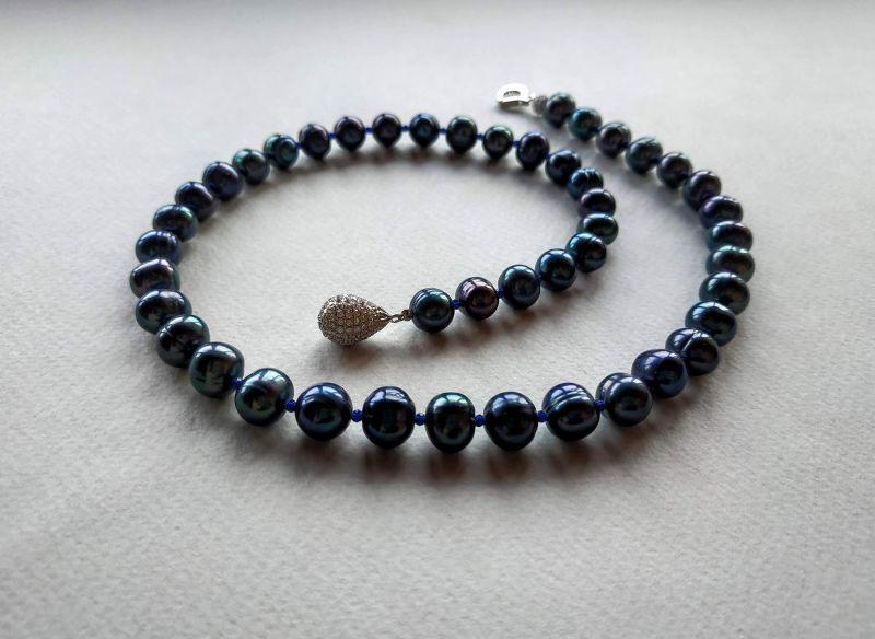 Колье из коллекции «Galaxie - Constellation du Serpent» Арт. N22188GDS Синий Жемчуг морской (культивир Богомолова Светлана - фото 2