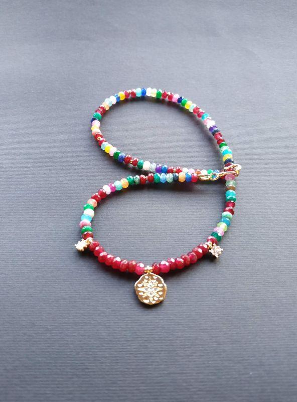 Браслет из коллекции «Roue de la Fortune» Арт. B281788RDLF/red/ Красный Кварц разноцветный, крист Богомолова Светлана - фото 5