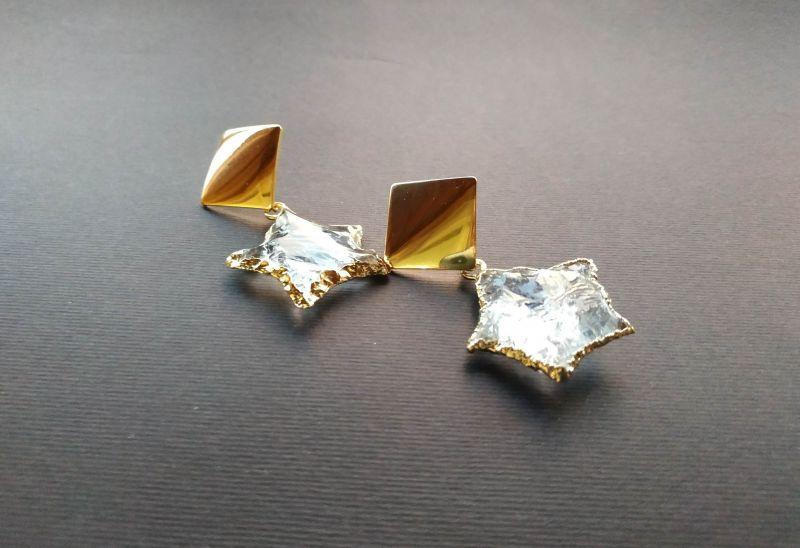 Серьги из коллекции «Jouet de hochet» Арт.E13788JDH Желтый Горный хрусталь, латунь, Богомолова Светлана - фото 3