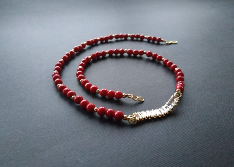 Браслет из коллекции «Red thread» Арт. B111228RTH Красный Агат, кристаллы Swarovski Богомолова Светлана - фото 4