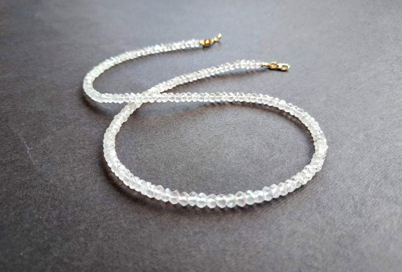 Ожерелье из коллекции «Line of love» Арт. E4121963LL Белый Розовый кварц (ювелирный) Богомолова Светлана - фото 5