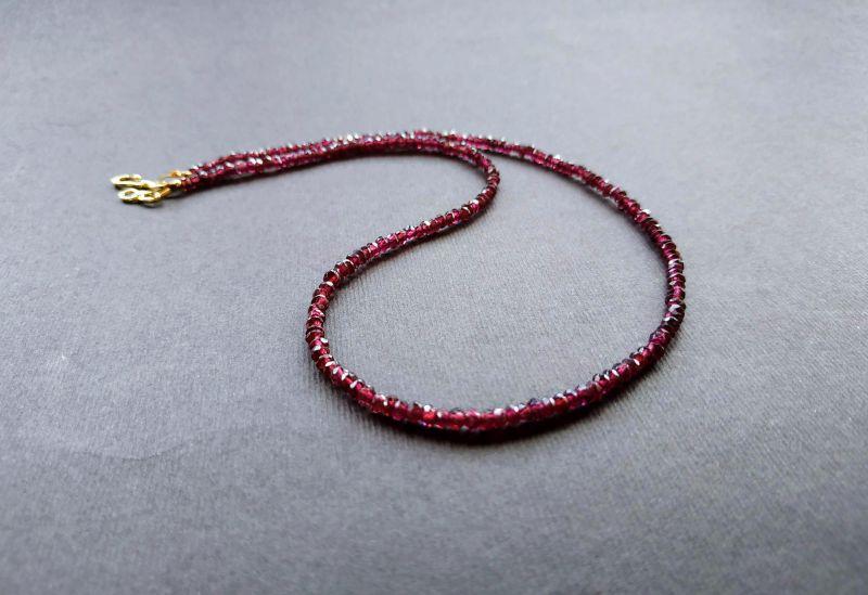 Ожерелье из коллекции «Life line» Арт. N180888LL Гранатовый Гранат (ювелирный), латун Богомолова Светлана - фото 6