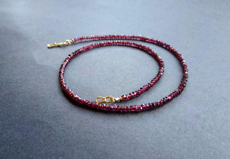 Ожерелье из коллекции «Life line» Арт. N180888LL Гранатовый Гранат (ювелирный), латун Богомолова Светлана - фото 2