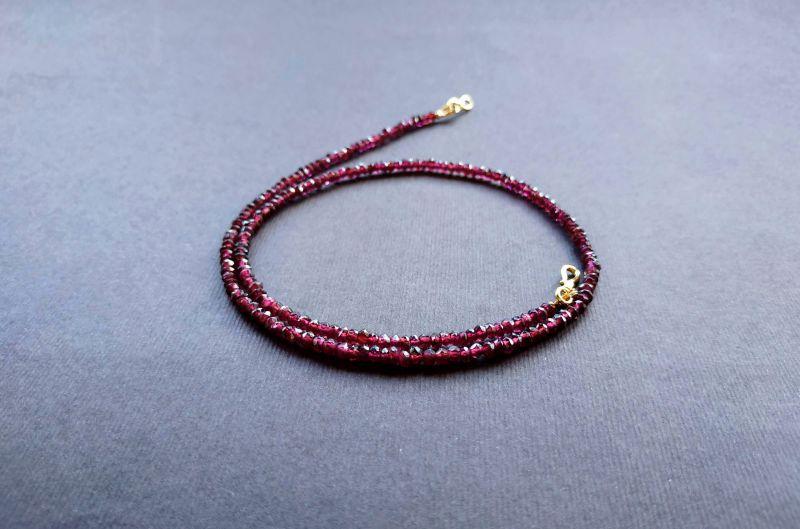 Ожерелье из коллекции «Life line» Арт. N180888LL Гранатовый Гранат (ювелирный), латун Богомолова Светлана - фото 5