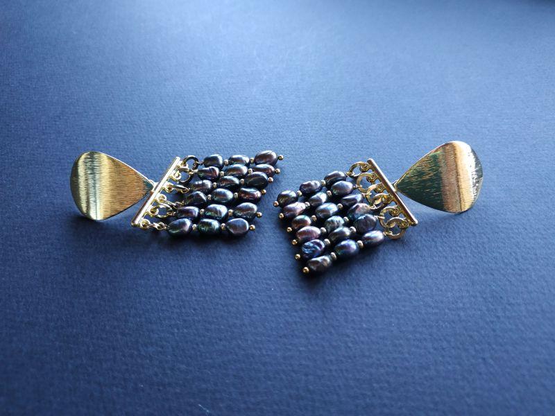 Серьги из коллекции «Tau Kita» Арт. E31719TK Голубой Жемчуг пресноводный (серо Богомолова Светлана - фото 5
