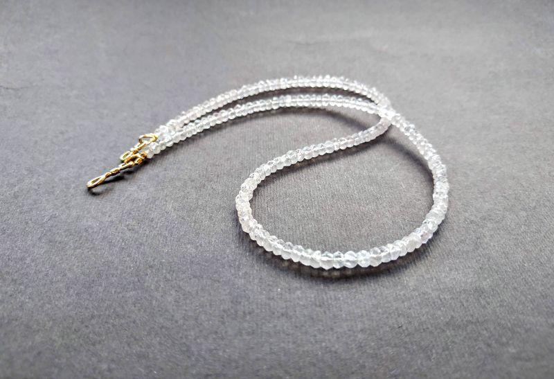 Ожерелье из коллекции «Line of love» Арт. E4121963LL Белый Розовый кварц (ювелирный) Богомолова Светлана - фото 4