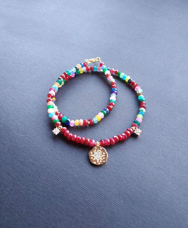 Браслет из коллекции «Roue de la Fortune» Арт. B281788RDLF/red/ Красный Кварц разноцветный, крист Богомолова Светлана - фото 6
