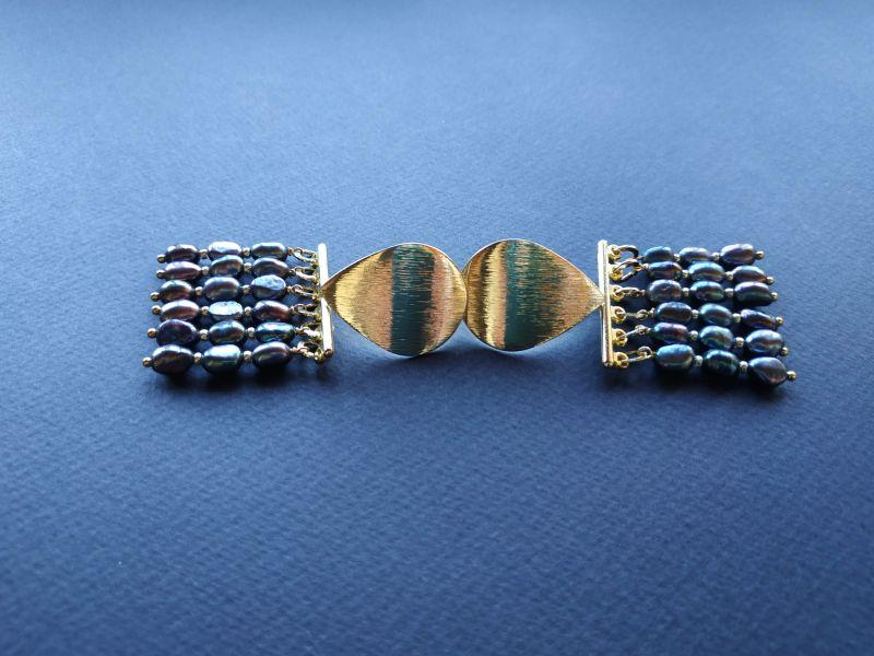 Серьги из коллекции «Tau Kita» Арт. E31719TK Голубой Жемчуг пресноводный (серо Богомолова Светлана - фото 6
