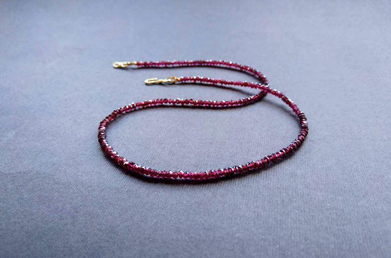Ожерелье из коллекции «Life line» Арт. N180888LL Гранатовый Гранат (ювелирный), латун Богомолова Светлана - фото 7