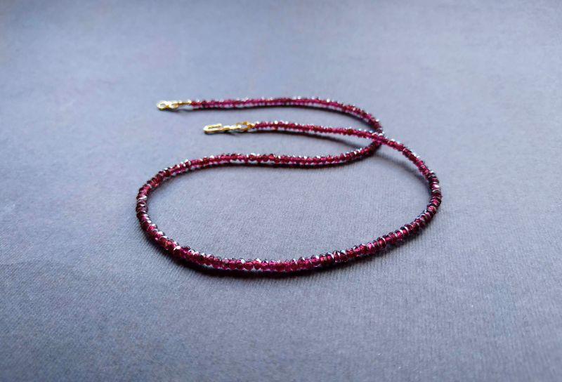 Ожерелье из коллекции «Life line» Арт. N180888LL Гранатовый Гранат (ювелирный), латун Богомолова Светлана - фото 4