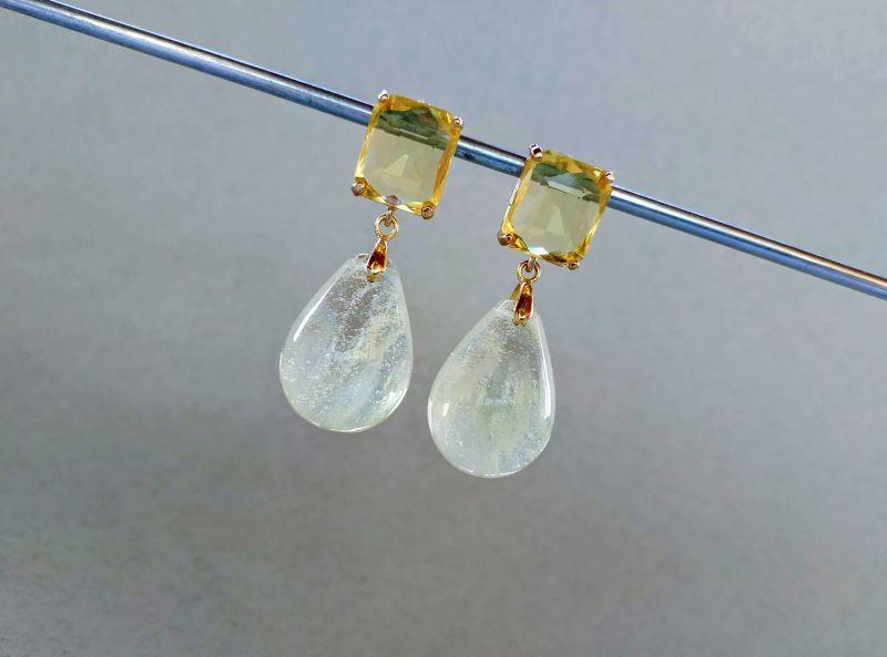 Серьги из коллекции «Soleil dans un verre» Арт. 8788SDUV Белый Лунный камень (санидин), Богомолова Светлана - фото 7
