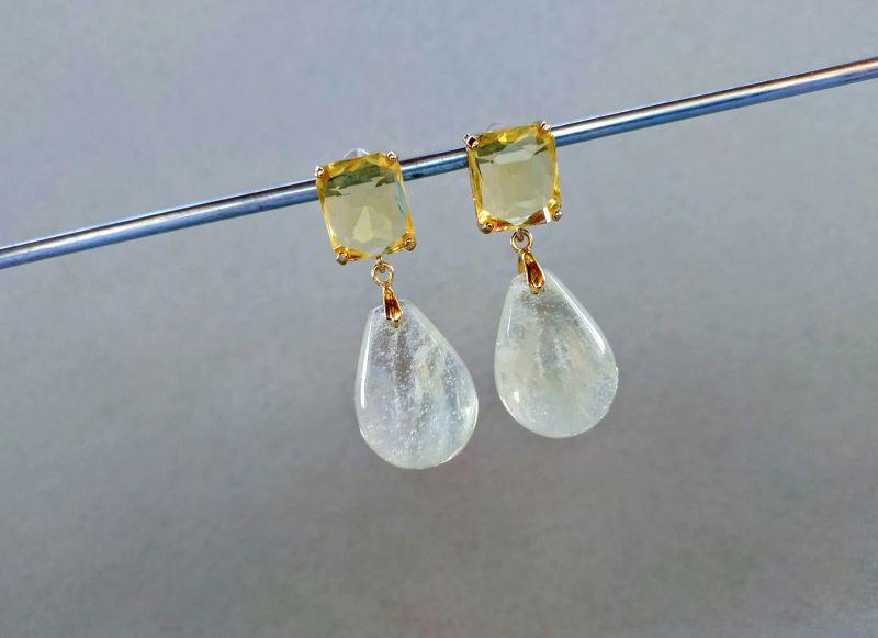Серьги из коллекции «Soleil dans un verre» Арт. 8788SDUV Белый Лунный камень (санидин), Богомолова Светлана - фото 5