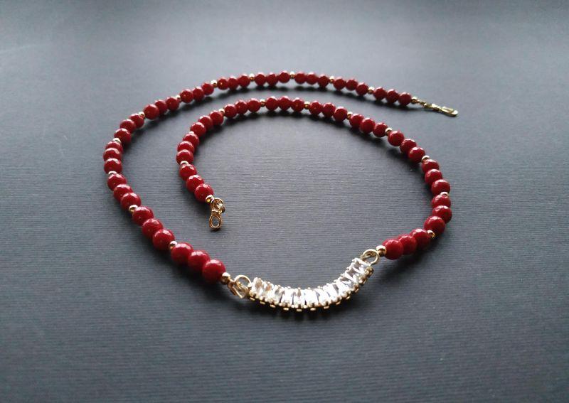Браслет из коллекции «Red thread» Арт. B111228RTH Красный Агат, кристаллы Swarovski Богомолова Светлана - фото 7