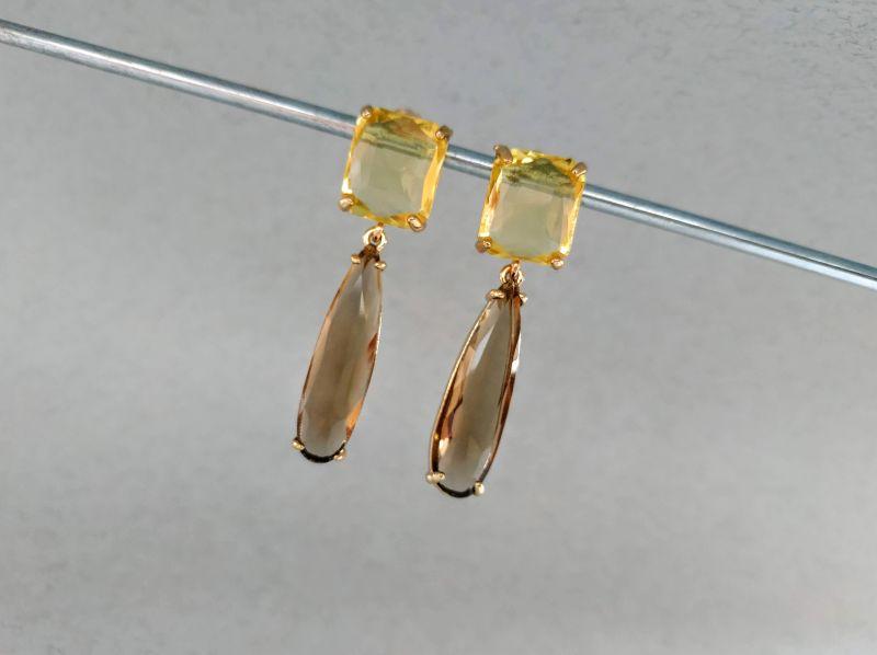Серьги из коллекции «Vitrum» Арт. E19688VTR Yellow Желтый Витражи, латунь, позолота Богомолова Светлана - фото 6