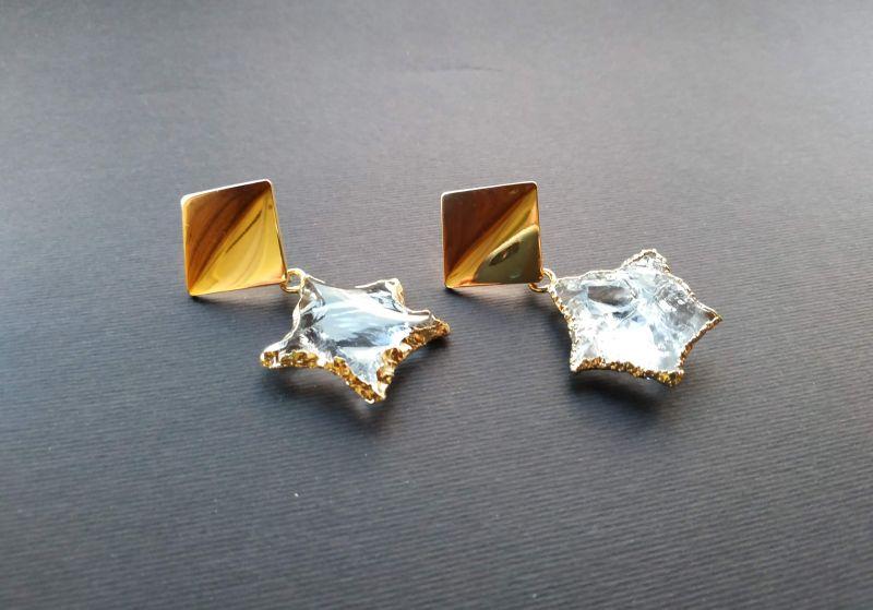 Серьги из коллекции «Jouet de hochet» Арт.E13788JDH Желтый Горный хрусталь, латунь, Богомолова Светлана - фото 8